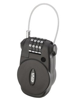 Padlock GIVI with retractable wire and combination lock