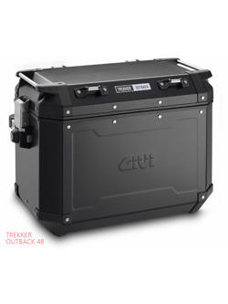 Side case aluminium black matt left Givi Trekker Outback 48 L