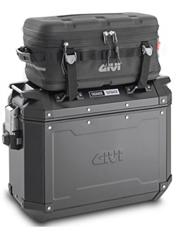 Side case aluminium black matt right Givi Trekker Outback 37 L