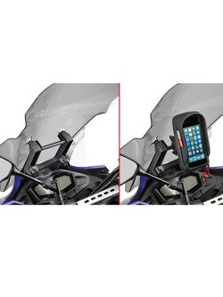 Fairing upper bracket to be mounted behind the windshield to install S902A, S920M, S920L and GPS-Smartphone holder