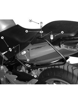 Specific holder for soft side bags HONDA CBF 500/600/1000
